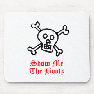Muéstreme el cráneo del pirata del botín alfombrilla de ratones