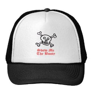 Muéstreme el cráneo del pirata del botín gorras de camionero