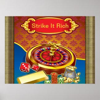 Muéstreme el jugador del dinero póster