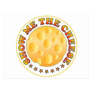 Muéstreme el queso tarjeta postal