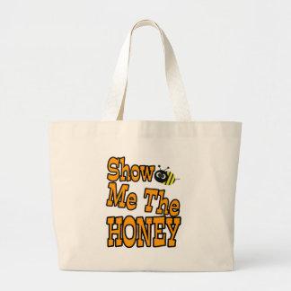 muéstreme la miel bolsa tela grande