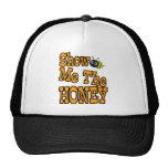 muéstreme la miel gorros bordados