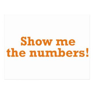 ¡Muéstreme los números! Postales
