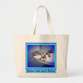 ¡Muéstreme su a pescado! Bolsa Tela Grande