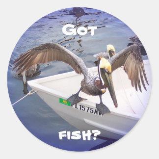 ¡Muéstreme su a pescado! Etiquetas Redondas