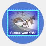 ¡Muéstreme su a pescado! Pegatina Redonda