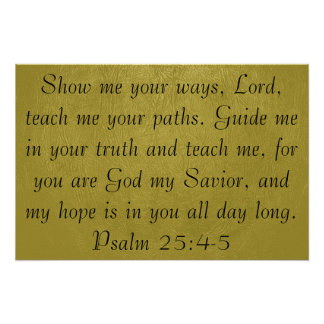 Muéstreme sus maneras, poster del verso de la bibl