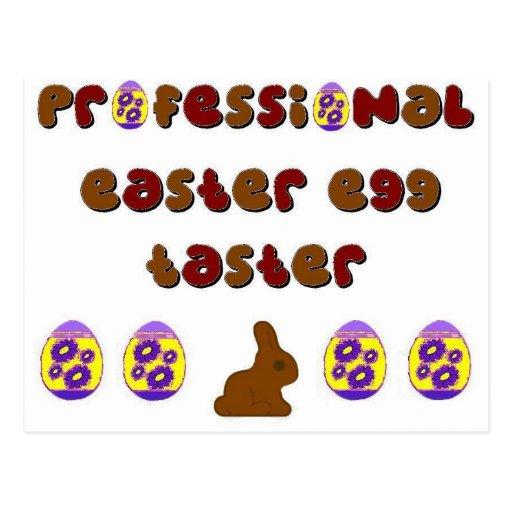 Muestreo del huevo de Pascua Tarjeta Postal