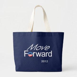 Mueva adelante - la campaña de Obama 2012 Bolsa De Tela Grande