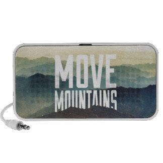 Mueva las montañas mp3 altavoces