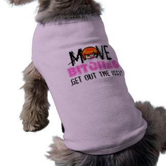¡Mueva las perras! Acaricie la ropa Playera Sin Mangas Para Perro