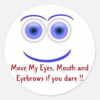 Mueva los ojos en pegatina divertido de la cara
