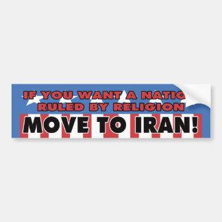 Muévase a la pegatina para el parachoques de Irán Pegatina Para Auto