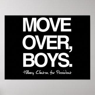 Muévase sobre los muchachos - Hillary para el Póster
