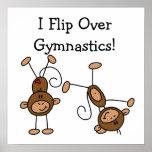 Muevo de un tirón sobre la gimnasia posters