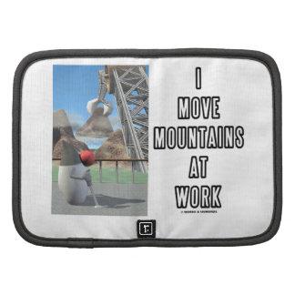 Muevo las montañas en el trabajo el analista de p organizador
