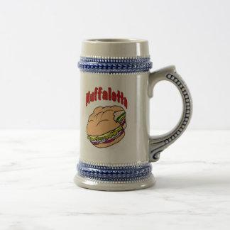 Muffalotta Sandwich Logo Beer Stein