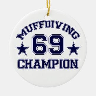Muffdiving Champion custom ornament