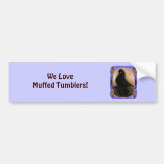 Muffed Tumbler Pigeon Framed Car Bumper Sticker