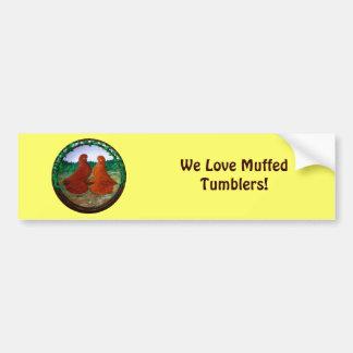 Muffed Tumbler Pigeons2 Bumper Sticker