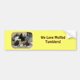 Muffed Tumbler Pigeons Bumper Sticker