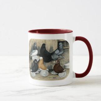 Muffed Tumbler Pigeons Mug