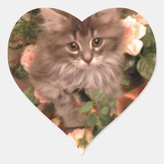 Muffen Kitten Heart Sticker