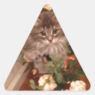Muffen Kitten Triangle Sticker