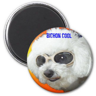 Muffet doggles orig bichon cool magnet
