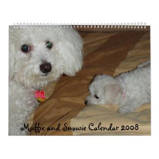 Muffie and Snowie 2008 Calendar