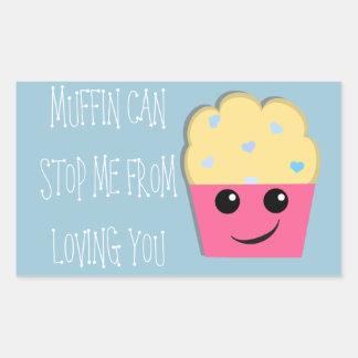 Muffin Can Stop Me Valentine Rectangular Sticker