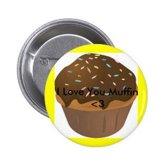 muffin_cartoon, I Love You Muffin <3 Button