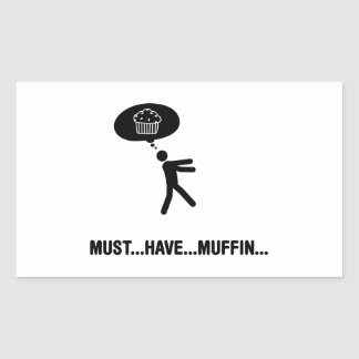 Muffin Lover Rectangle Stickers