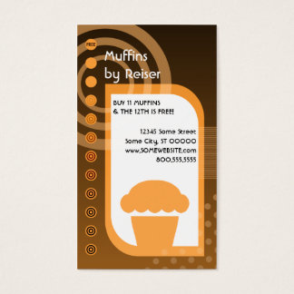 muffin loyalty oranges business card