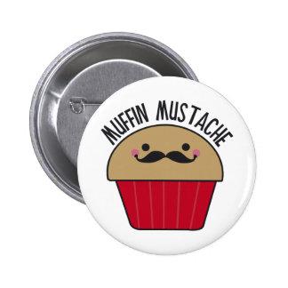 Muffin Mustache 2 Inch Round Button