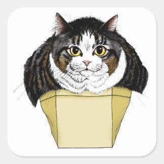 Muffin Top Cat Square Sticker