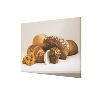 Muffins and dinner rolls canvas print