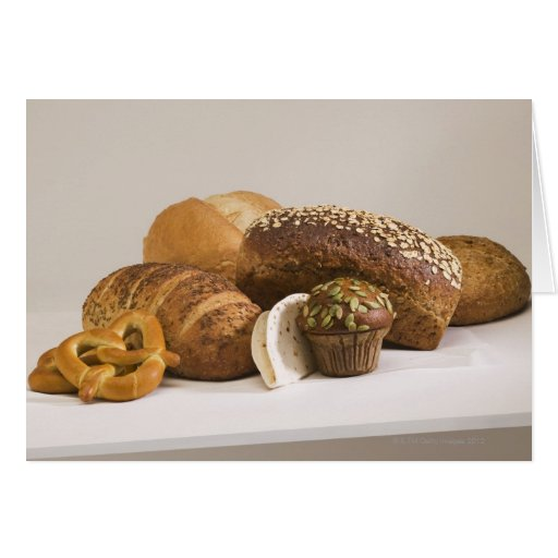Muffins and dinner rolls card