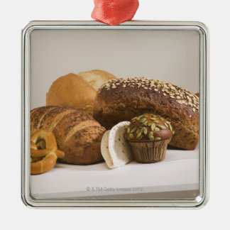 Muffins and dinner rolls metal ornament