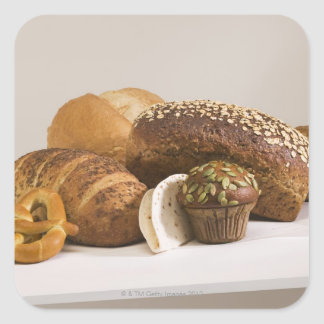 Muffins and dinner rolls square sticker