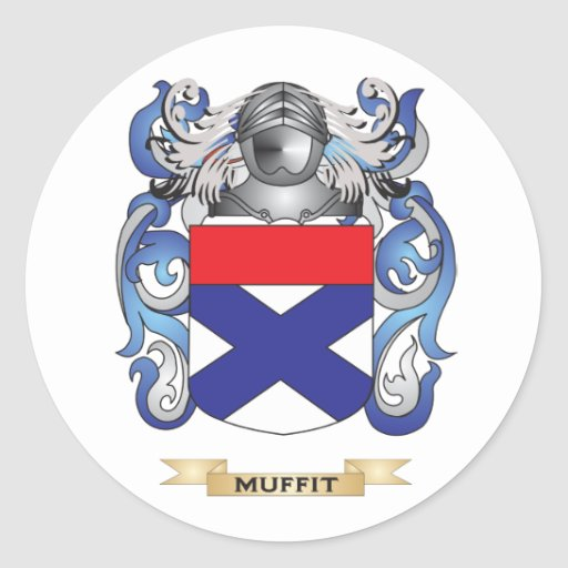 Muffit Coat of Arms (Family Crest) Sticker