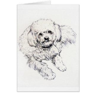 Muffy : Ink drawing Greeting Card