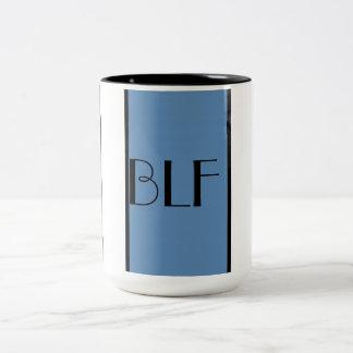 mug-  155 stripes and monogram Two-Tone coffee mug