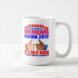 Mug: 2012 Obama - Respect Classic White Coffee Mug