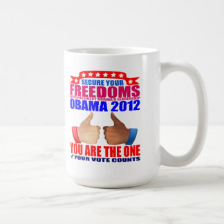 Mug: 2012 Obama -Thumbs Up - Freedoms