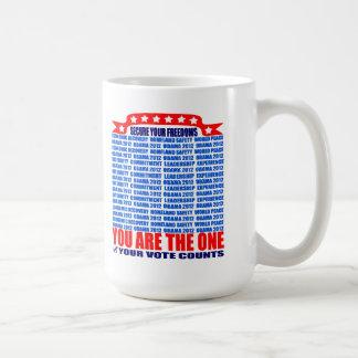 Mug: 2012 Obama - Wall, Secure Your Freedoms