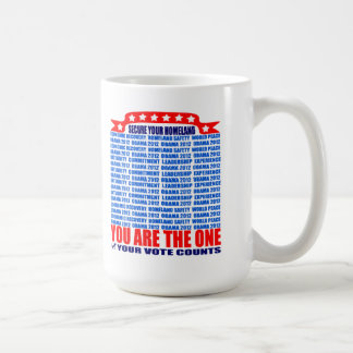 Mug: 2012 Obama - Wall, Secure Your Homeland