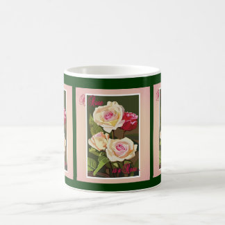 Mug- A Rose-triple Classic White Coffee Mug