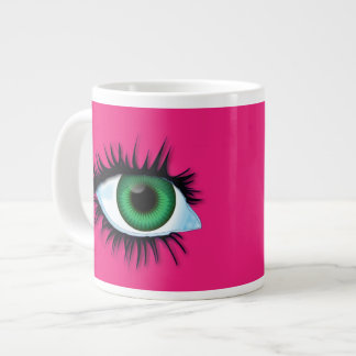 Mug abstract background with eyes