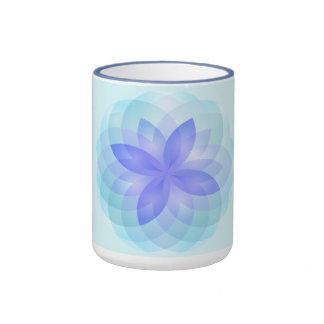 Mug abstract lotus flower